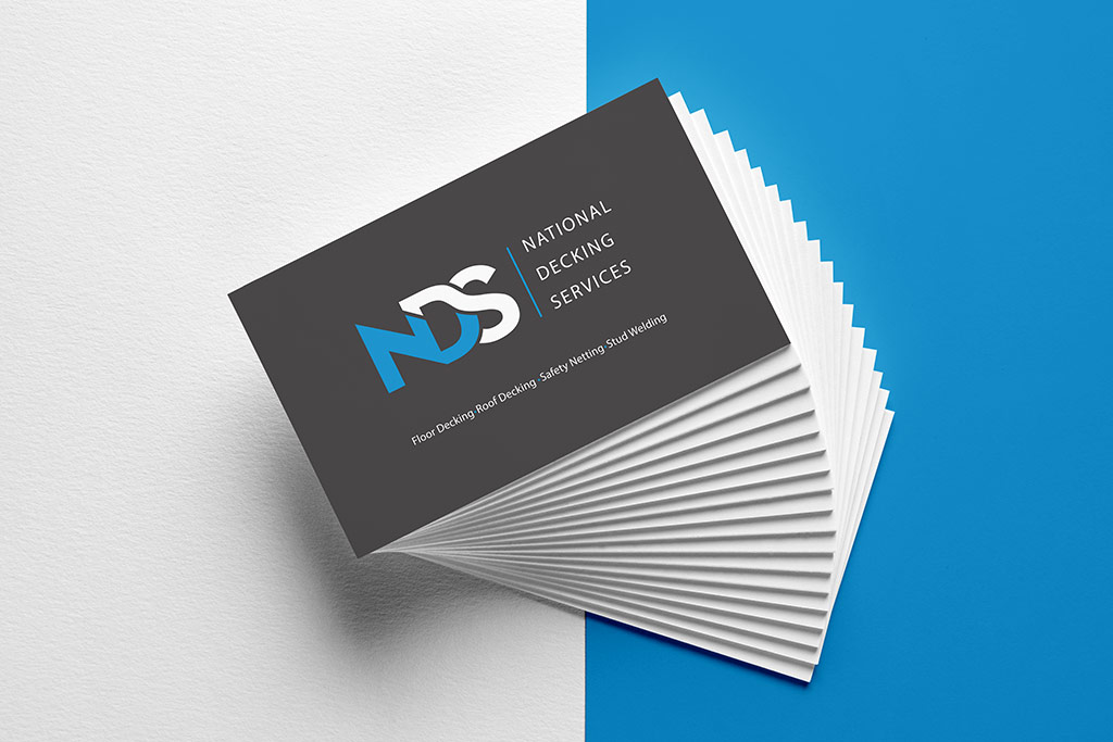 A photo of a business card for National Decking Services