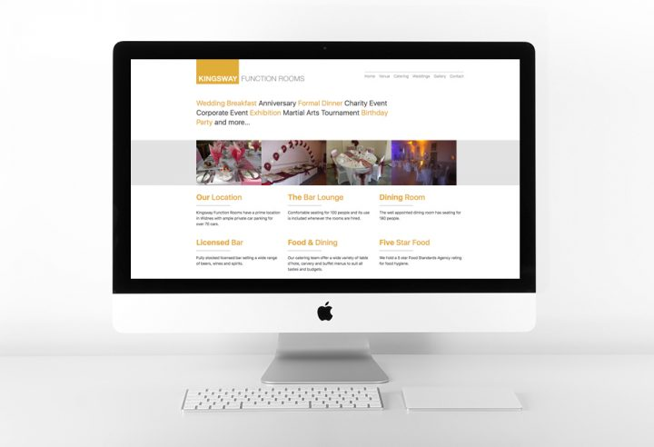 Kingsway Function Rooms Website Design